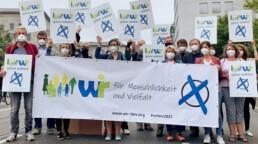Demonstration für Menschlichkeit und Vielfalt
